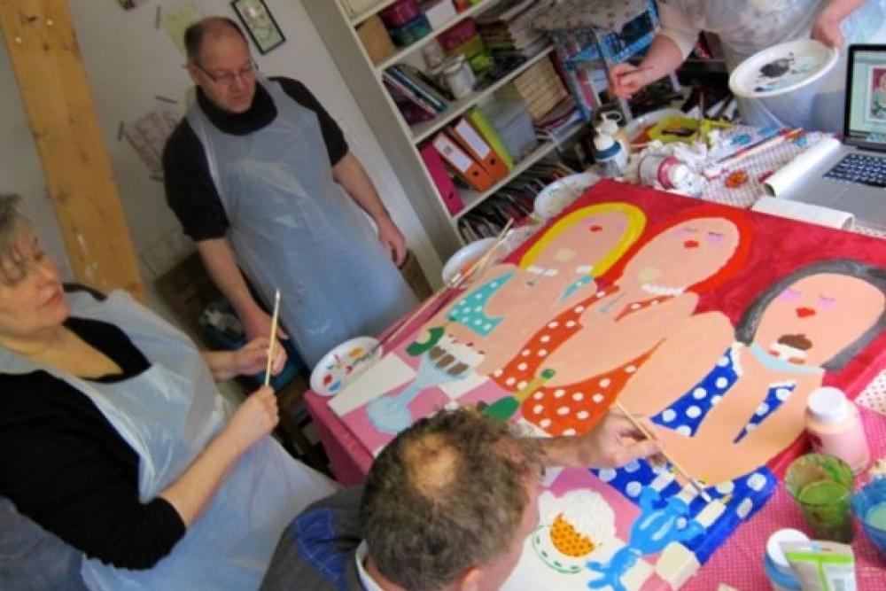 Vrijgezellenfeest dikke dames schilderen for Dikke dames schilderen